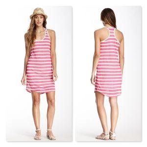 C&C California Surf Linen Stripe Tank Dress